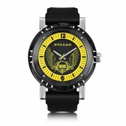 Holler Men's Black Magic Yellow Watch